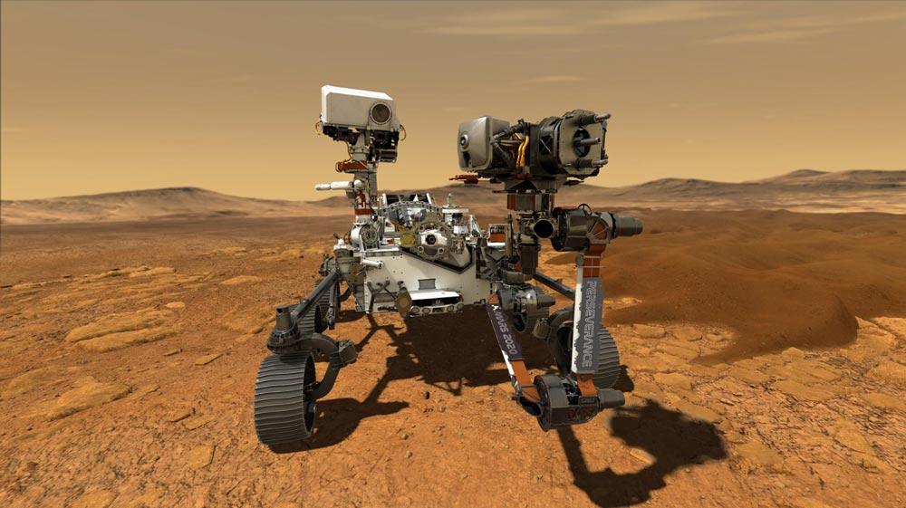 La primera imagen de Perseverance desde Marte