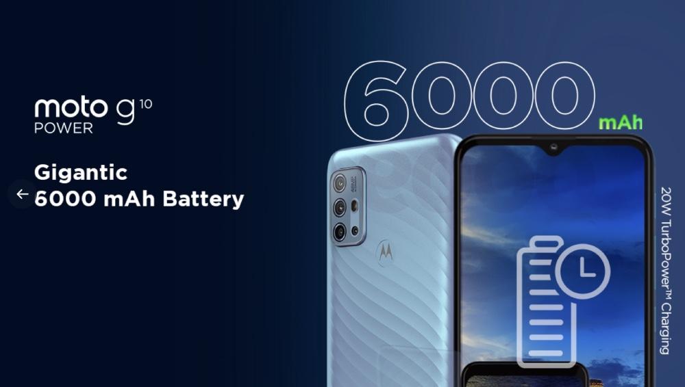 Moto G10 Power es oficial con batería masiva de 6,000mAh