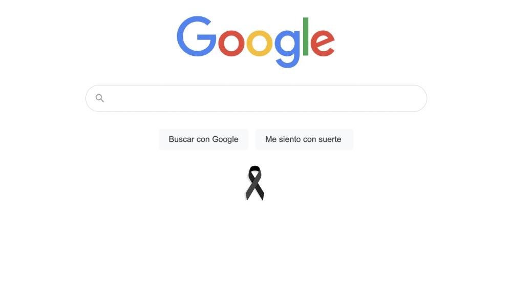 ¿Por qué google.com.mx tiene un moño negro?