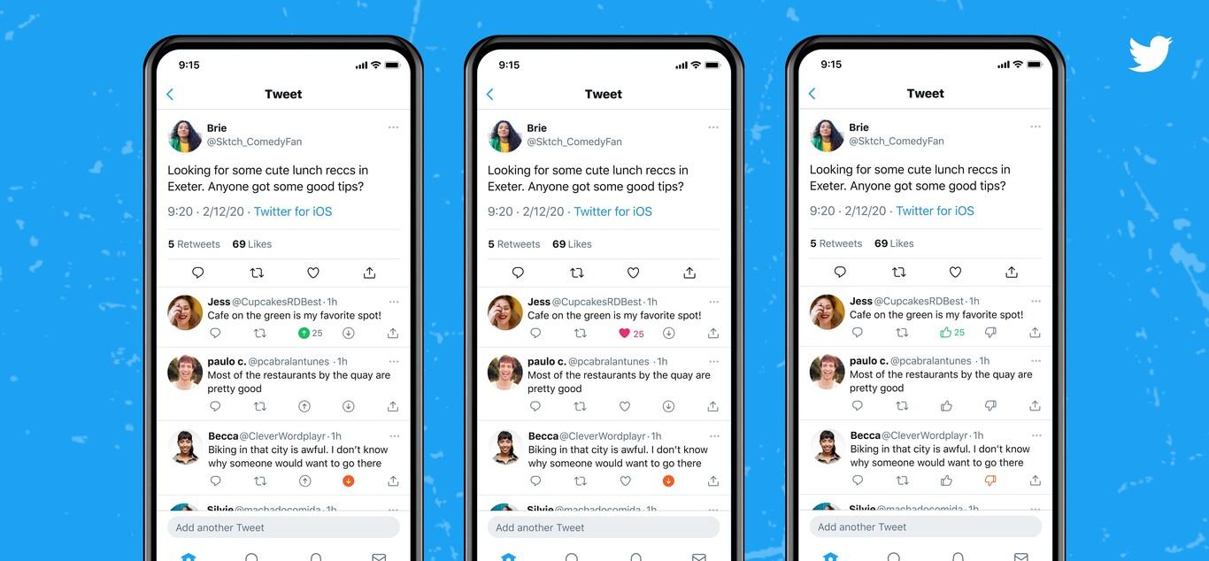 Twitter pone a prueba un botón para dar votos positivos y negativos