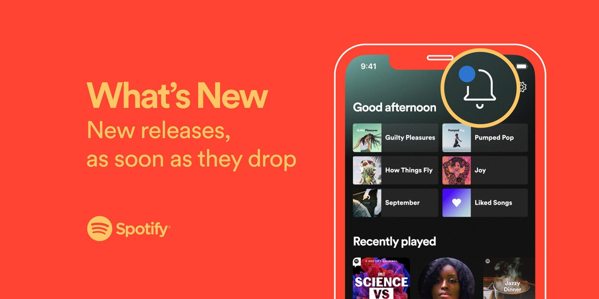 Spotify estrena campanita de notificaciones
