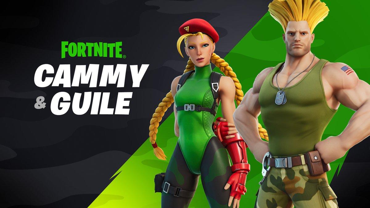 Cammy y Guile, de 'Street fighter', estarán disponibles en Fortnite