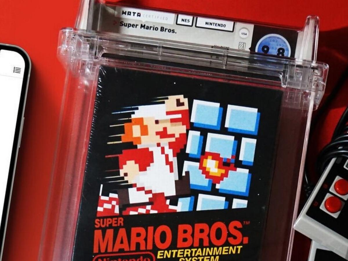 Super Mario Bros. para NES se vende en 2 millones de dólares